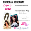 Wig Giveaway on Instagram