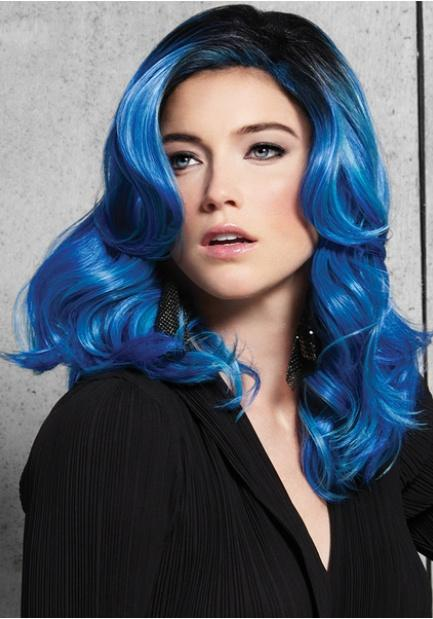 Blue Waves Wig