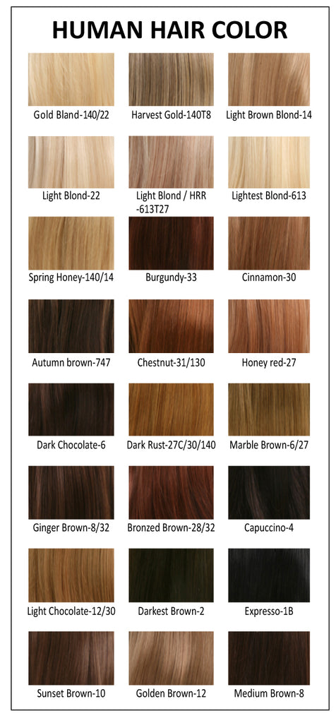human hair colors wigs by piere