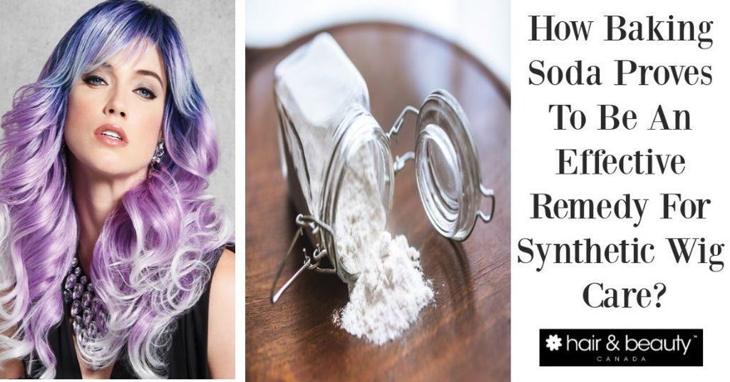 baking soda synthetic wig