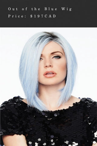 Out of blue wig
