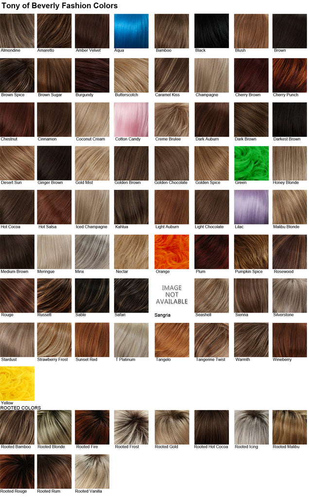 tony of beverly wig fashion colours