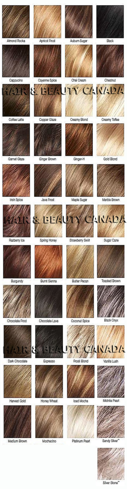 rene of paris wig color chart