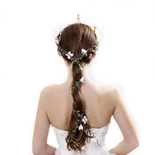 Load image into Gallery viewer, Hair Accessories - Aesthetic Rattan Flower Vine Crown Tiara Hair Accessory