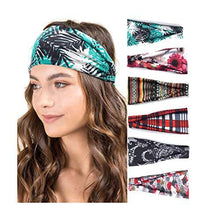 Load image into Gallery viewer, Hair Accessories - Fashion Print Hair Bands Set