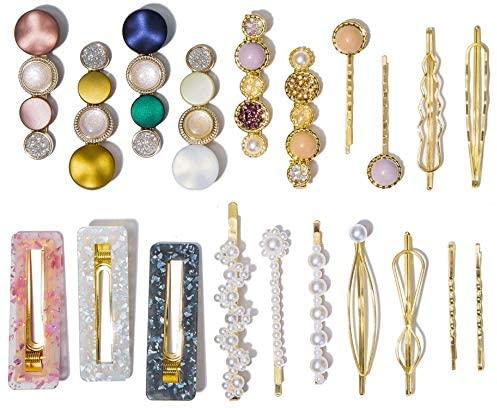 Hair Accessories - Faux Pearl Clips And Pins Hair Barrettes Set