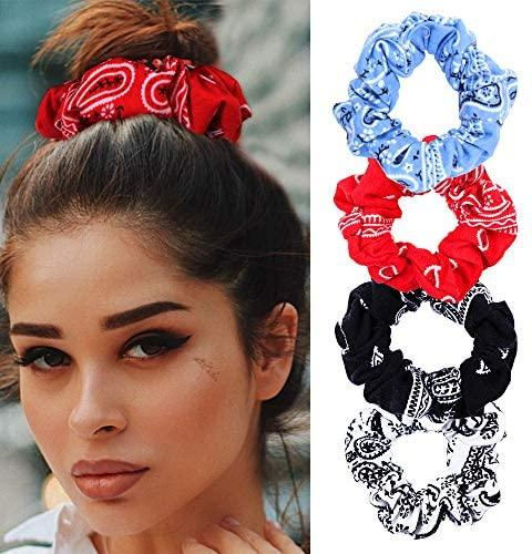 Hair Accessories Set - Paisley Printed Fashion Headband & Hair Scrunchies Accessories Set