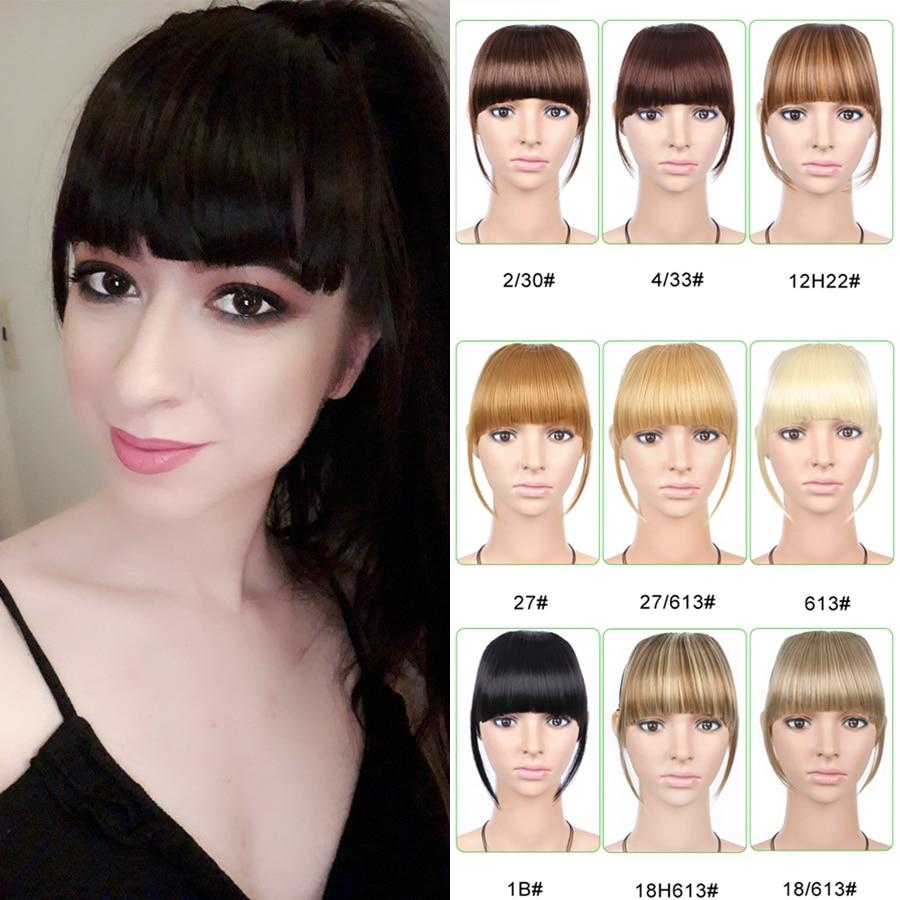Hair Bangs - Heat Friendly Clip In Bangs Hairpiece