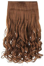 "Load image into Gallery viewer, Hair Extensions - Curly 20 "" Clip On Hair Extension Piece"