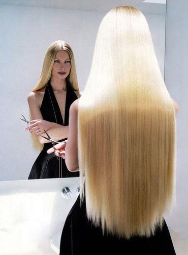 Hair Extensions - Extra-long Straight 5-clip In One-piece Synthetic Hair Extension Piece