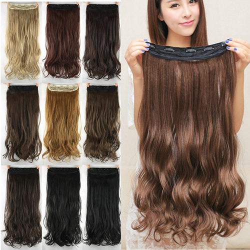 Hair Extensions - Heat Friendly Clip-in One Piece Hair Extension Hair Accessory