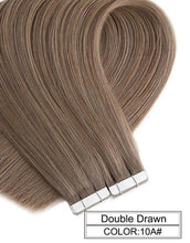 Load image into Gallery viewer, Hair Extensions - Ombre Baylage 10PCS Remy Tape In Human Hair Extensions