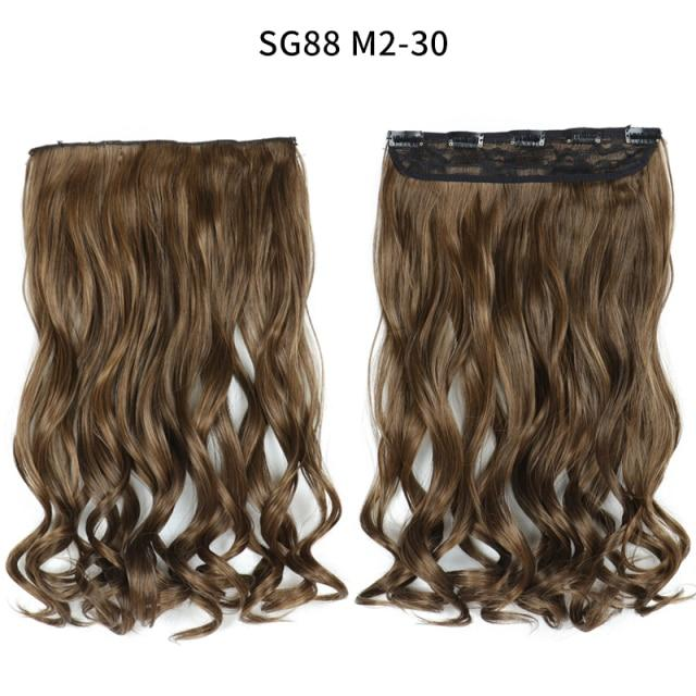 Hair Extensions - One-piece Long Wavy  Heat Resistant Clip In Hair Extensions