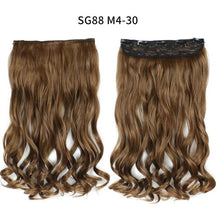 Load image into Gallery viewer, Hair Extensions - One-piece Long Wavy  Heat Resistant Clip In Hair Extensions