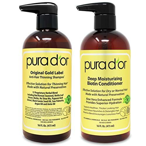Hair Growth Shampoo - Anti-Thinning Natural Hair Shampoo & Conditioner Set