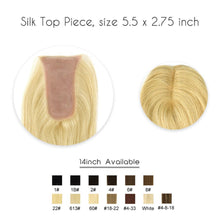Load image into Gallery viewer, Hair Topper - Oblong 14 Inch Silk Base Virgin Cuticle Remy Human Hair Topper