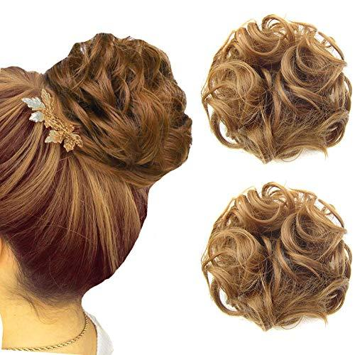 Hairpiece - Curly Hair Wrap Updo Hair Bun Hairpiece- 2 Piece Set