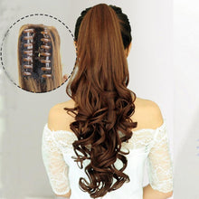 Load image into Gallery viewer, Hairpiece - Extra Long Curly Synthetic Hair Clip In Claw Ponytail Extension