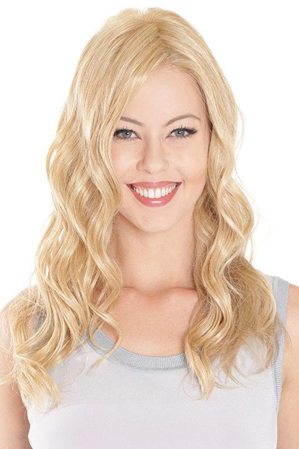 "Hairpieces - 18"" Wavy Heat Resistant Fibre Lace Front Mono Hairpiece Topper"