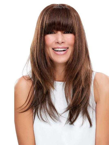 Hairpieces - Easi Fringe + Human Hair Clip On Bangs Hairpiece
