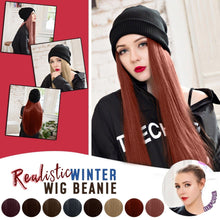 Load image into Gallery viewer, Hat With Hair - Beanie Hat Wig With 28 Inch Hair Attached