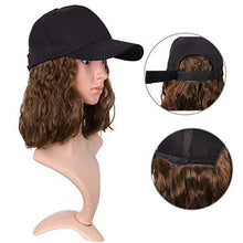 Load image into Gallery viewer, Hat With Hair - Medium Long Wavy Hair With Baseball Cap
