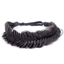 Load image into Gallery viewer, Headband - Wide Fishtail  Braided Headband Elastic Stretch Hairpiece