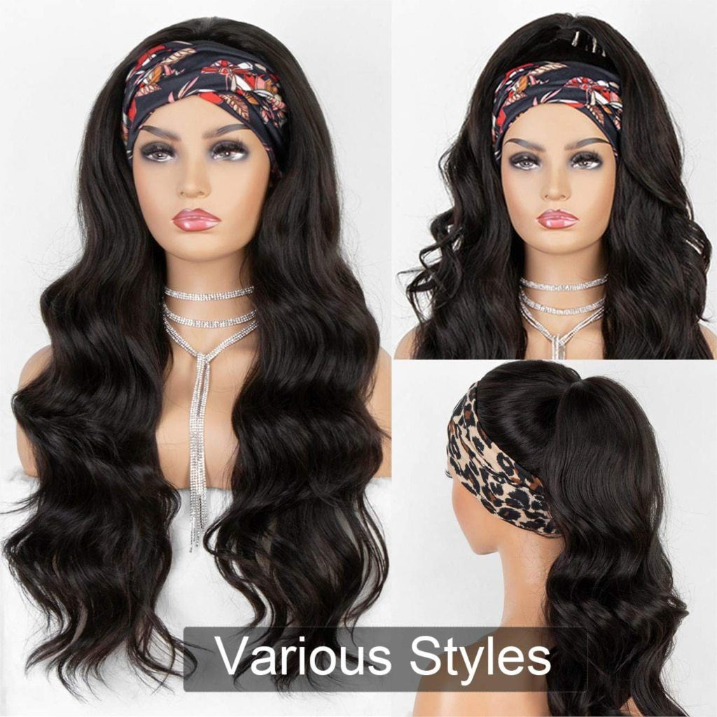 Headband Wig - Long Wavy Hair Headband Wig