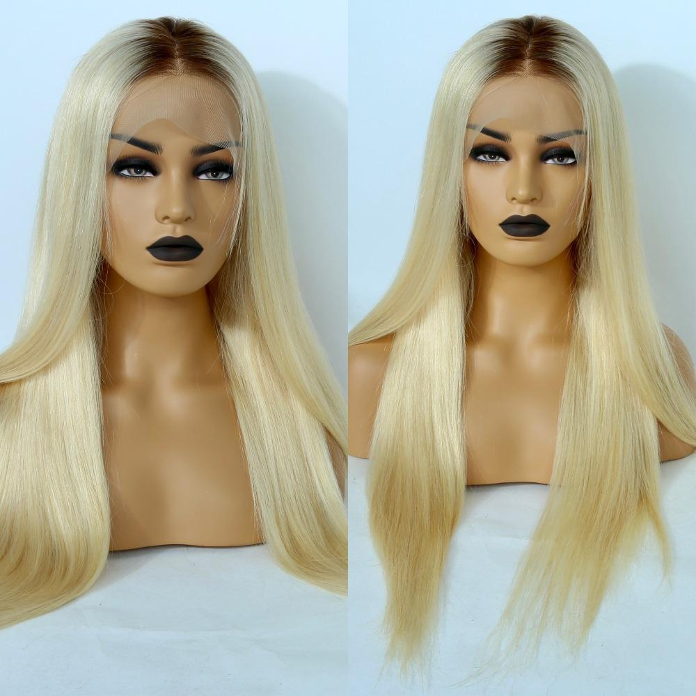 Human Hair Wig - Kelly Ombre Blonde Full Lace Human Hair Wig