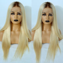 Load image into Gallery viewer, Human Hair Wig - Kelly Ombre Blonde Full Lace Human Hair Wig