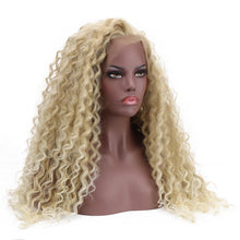 Load image into Gallery viewer, Lace Front Wig - Curly Bohemian Natural Part 24'' Long  Synthetic 15*4.5 Swiss Lace Front Wig
