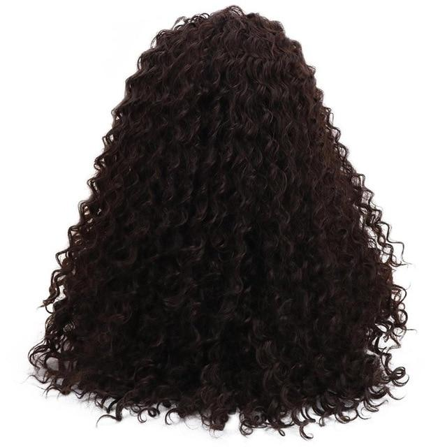 Lace Front Wig - Curly Bohemian Natural Part 24'' Long  Synthetic 15*4.5 Swiss Lace Front Wig