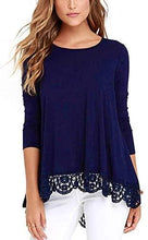 Load image into Gallery viewer, Ladies Top - Ladies Pull Over Top With Lace Hem
