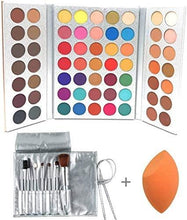 Load image into Gallery viewer, Makeup Set Eyeshadow Palette, Brushes, Sponge