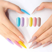 Load image into Gallery viewer, Nail Polish Set - Acrylic Nail Dipping Powder Rainbow Color Set