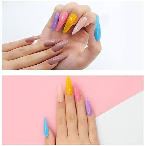 Nail Polish Set - Acrylic Nail Dipping Powder Rainbow Color Set