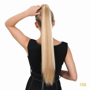 Ponytail - 24 Inch Long Straight Claw Clip In Pony Hair Extension