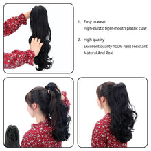 "Load image into Gallery viewer, Ponytail Extension - Long Curly 18""Synthetic Claw Clip On Ponytail Hair Heat Friendly  Hair Piece"