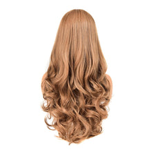 Load image into Gallery viewer, Strawberry And Light Brown Blended Long Wavy Synthetic Hair Wig High-Temperature Fibre