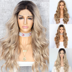 Synthetic Wigs - Ladies Long Natural Wave Heat Resistant Hair Wig
