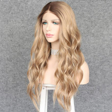 Load image into Gallery viewer, Wig - Beach Waves Long Wavy Synthetic Lace Front Wig