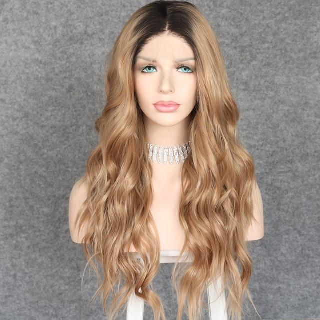 Wig - Beach Waves Long Wavy Synthetic Lace Front Wig