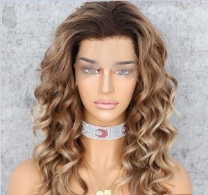 Wig - Campbell Free Parting Curly Heat Resistant Synthetic Lace Front Wig