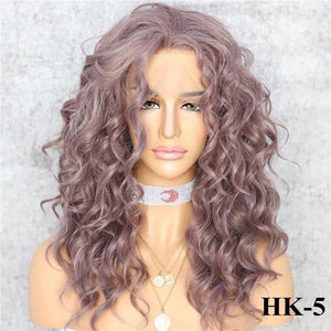 Wig - Free Parting Curly Heat Resistant Synthetic Lace Front Wig