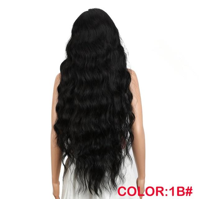 Wig - Lilac, Synthetic Lace Front Wigs Extra Long Deep Natural Wave Ombre Coloured Fashion Wig