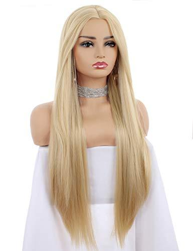 Wig - Long Straight Blonde Wig With Middle Part