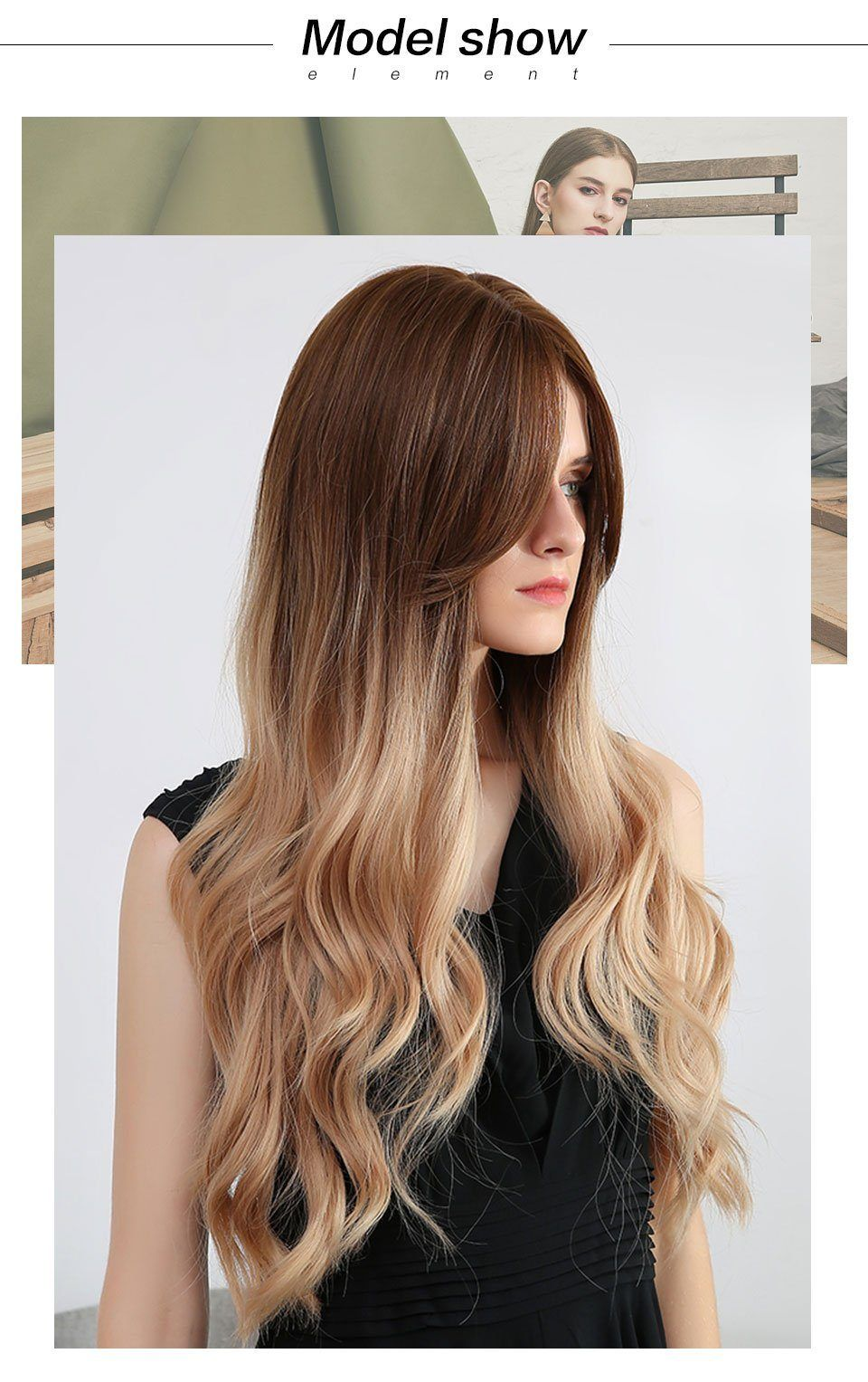 Wig - Michela Rooted Long Ombre Wig