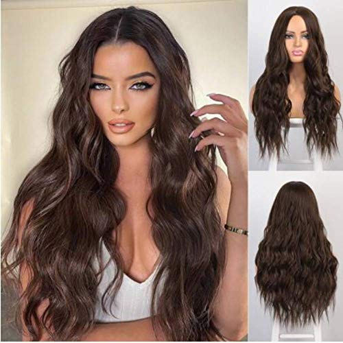 Wig - Middle Parted Wavy Heat Resistant Extra Long 26 Inch Wig