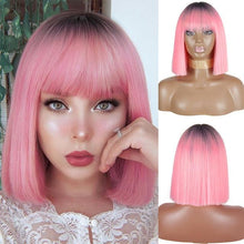 Load image into Gallery viewer, Wig - Pink Shaded Bob Wig