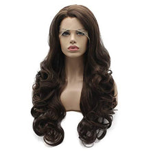 Load image into Gallery viewer, Wig - Wavy Ash Brown Hand Tied Heat Resistant Lace Front Wig